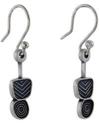 Jan D - Small Multi Texture Earrings - Lyst