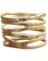 Elena Jewelry Concepts Yellow Plated Wave R - Metallic
