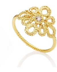 Brigitte Adolph Jewellery Design - Miss Medea Yellow Gold Engagement Ring - Lyst