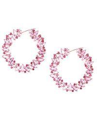 Trésor 18kt Rose Gold Pink Sapphire And Ruby Hoop Earrings