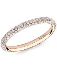 Verifine London Gemopoli Diamond Ring In Rose Gold - Metallic