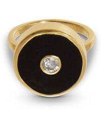 Liz Phillips Europa Diamond And Black Onyx Ring - Multicolor