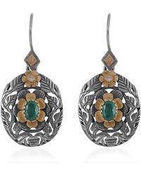 Emma Chapman Jewels Gloria Emerald Diamond Earrings - Multicolour