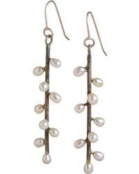 Randi Chervitz - Uncommon Threads Jewelry Sterling Silver Daphne Earrings - Metallic