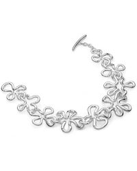 Lucy Quartermaine Sterling Silver Large Open Splash Bracelet - Metallic