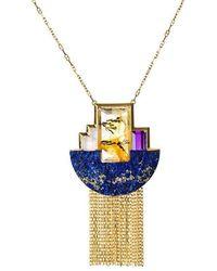Jaime Moreno Designer Jewelry - Yellow Gold & Multi-gemstone Niágara Ii Necklace | Jaime Moreno - Lyst
