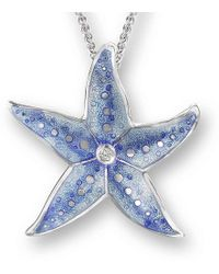 Nicole Barr - Silver Starfish Necklace - Lyst
