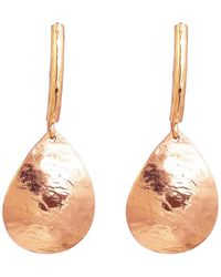 Rock Finders Keepers Rose Gold Plated Silver Jema Teardrop Earrings With Statement Hook - Multicolour