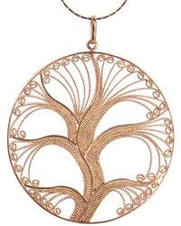 Agora Jewellery - Filigree Rose Gold Tree Of Life Pendant Necklace - Lyst