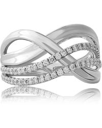 Jooal Infinity Ring In White Gold - Multicolor