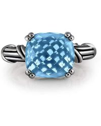 Peter Thomas Roth Fine Jewelry | Fantasies Blue Topaz Cocktail Ring Ruthenium Silver | Lyst