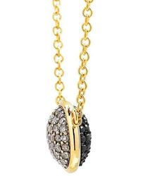 Syna - 18kt Reversible Necklace With Champagne Diamonds And Black Diamonds - Lyst