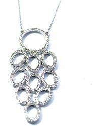 ERAYA 18kt White Gold Diamond Chandelier Necklace