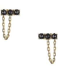 Imperfect Grace - Rita Dainty Bar And Chain Earrings - Lyst