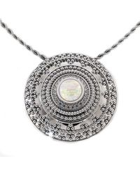 Dexter Augustus Ltd Nubia Large Necklace With Opal And Cubic Zirconia - Metallic