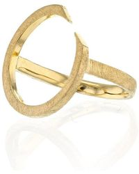 Ilda Design - Gold Plated Ring With Circling Top - Lyst