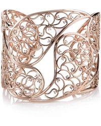 Sonal Bhaskaran Amer Rose Gold Paisley Cuff Clear Cubic Zirconia Q6mwR2IKe