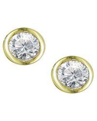London Road Jewellery Classic White Gold Diamond Raindrop Stud Earrings G8PKPsefGV