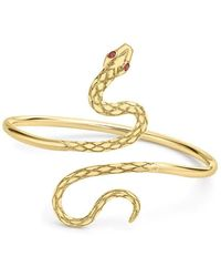 London Road Jewellery Kew Serpent Yellow Gold Ruby Bangle - Metallic