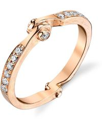 Borgioni - Handcuff Stackable Band In Rose Gold - Lyst