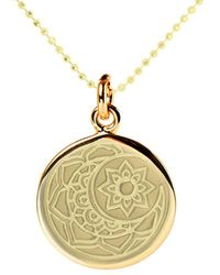 Mantra Jewellery Yellow Gold Plated Moon & Sun Disc Necklace - Metallic