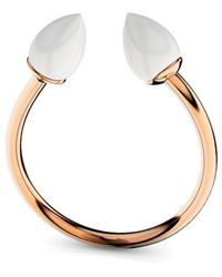 MARCELLO RICCIO - White Opal Silver Rose Gold Plated Ring - Lyst