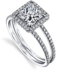 Harry Kotlar Princess Cut Unity Ring - UK M - US 6 - EU 52 3/4 5E6bU6mw0I