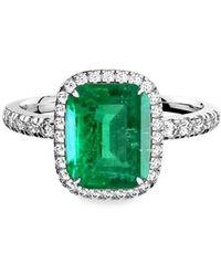MARCELLO RICCIO - Emerald Diamond Ring - Octagonal - Lyst