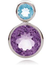 MANJA Jewellery Lana Amethyst & Blue Topaz Pendant