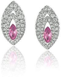 Niquesa Fine Jewellery - Petali D'amore Pink Sapphire Earstuds - Lyst