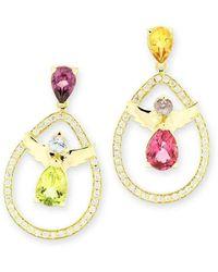 Nicofilimon Multi-coloured Angels Earrings - Metallic