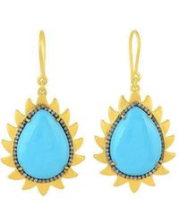 Meghna Jewels - Flame Turquoise Earrings - Lyst