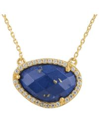 LÁTELITA London - Sofia Lapis Lazuli Gemstone Necklace Gold - Lyst