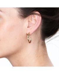 Deborah Blyth Jewellery - Silver Wave Hoop Earrings - Lyst