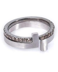 Polina Sapouna Ellis - Antithesis Convertible Brown Diamond Ring - Lyst