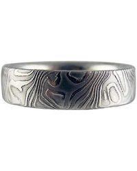 RING Jewellers - Steely Wood Grain Ring - Lyst