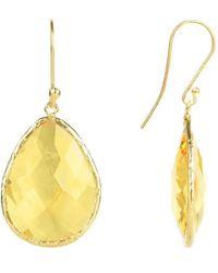 LÁTELITA London Gold Single Drop Earring Citrine Hydro - Yellow