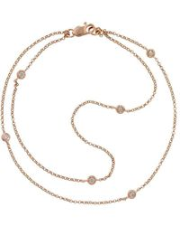 London Road Jewellery Bespoke 9kt Rose Gold Raindrop Bezel Set Diamond Bracelet - Multicolour