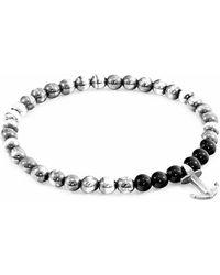 Anchor & Crew - Black Onyx Keel Silver And Stone Bracelet - Lyst