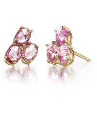 Paolo Costagli New York - Pink Sapphire Ombre Stud Earrings - Lyst