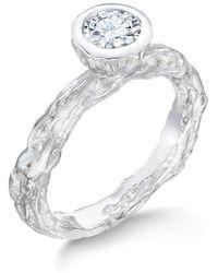 LJD Designs Banyan Tree Wedding-engagement Ring White Gold