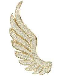 LÁTELITA London Yellow Gold Plated Gabriel Angel Wing Ear Climber - Left - Metallic