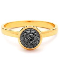 Syna - 18kt Small Black Diamond Bauble Ring - Lyst