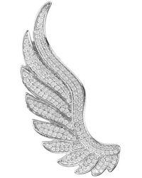 LÁTELITA London Sterling Silver Gabriel Angel Wing Ear Climber - Left - Metallic
