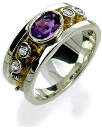 Will Bishop - Silver & Gold Amethyst Ring - Lyst