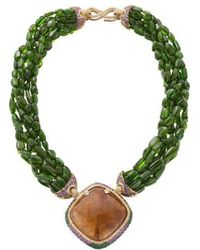 Niquesa Fine Jewellery - Venice Pulcinella Golden Rutile Quartz Necklace - Lyst