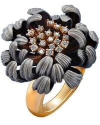 Chekotin Jewellery Gold & Diamond Astra Eden Ring   - Multicolour