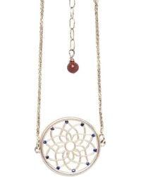 Congés - Dream Catcher Bracelet With Sapphires And Sunstone - Lyst