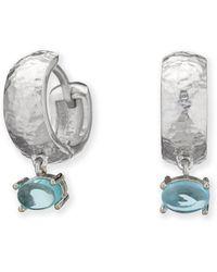 Maviada Bastia Mini Rhodium Plated Sterling Silver Earrings - Metallic