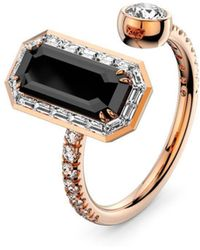 MARCELLO RICCIO - 18kt Gold, Diamond & Black Diamond Ring - Lyst